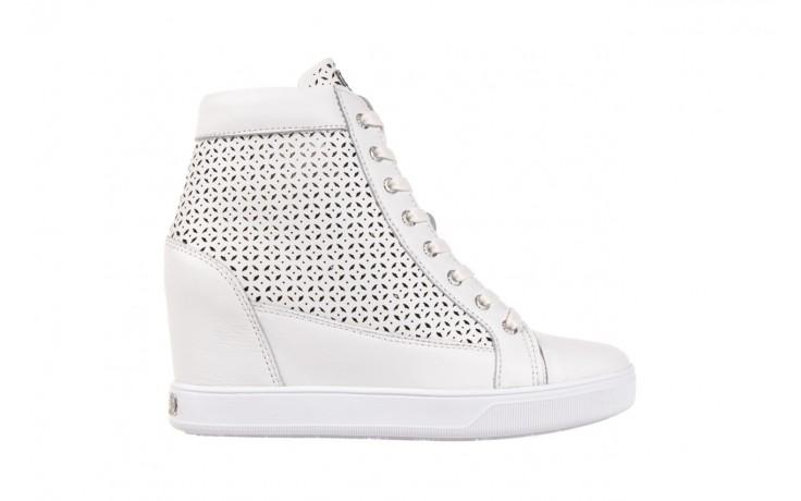 Sneakersy guess flfur2 lea12 white, biały, skóra naturalna  - guess - nasze marki