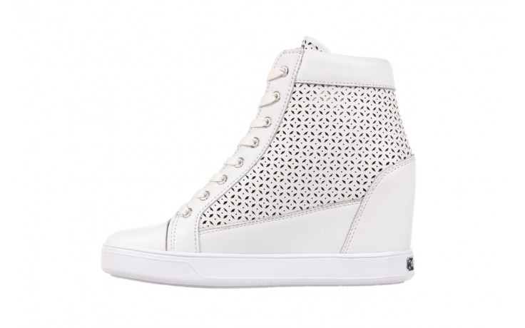 Sneakersy guess flfur2 lea12 white, biały, skóra naturalna  - guess - nasze marki 2