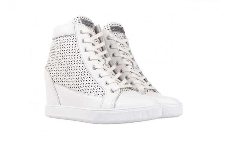 Sneakersy guess flfur2 lea12 white, biały, skóra naturalna  - guess - nasze marki 1