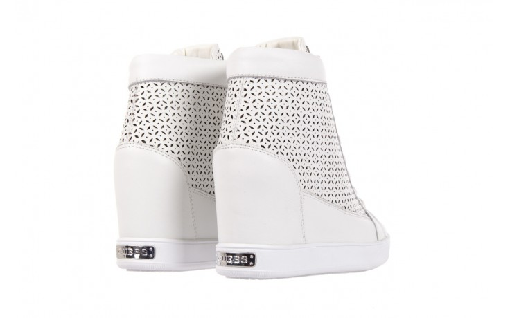 Sneakersy guess flfur2 lea12 white, biały, skóra naturalna  - guess - nasze marki 3