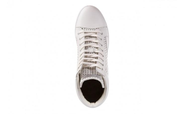 Sneakersy guess flfur2 lea12 white, biały, skóra naturalna  - guess - nasze marki 4