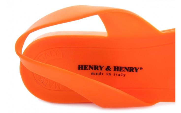 Sandały henry&henry spider orange, pomarańczowe, guma 5