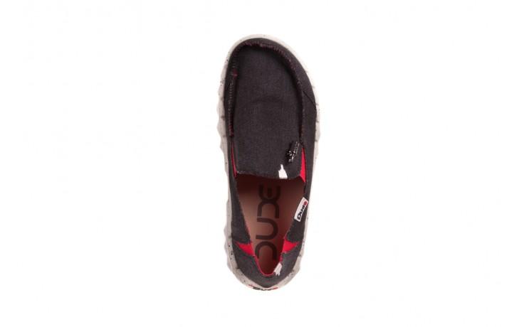Półbuty heydude farty funk black red, czarny/ czerwony, materiał  - heydude - nasze marki 4