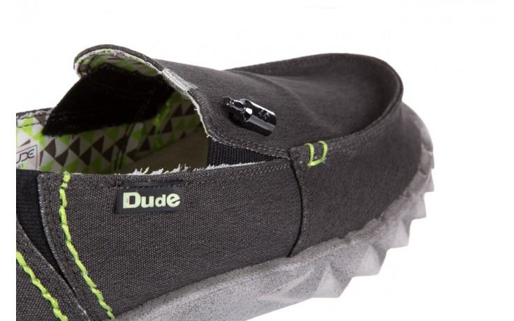 Półbuty heydude farty stretch black, czarny, materiał  - heydude - nasze marki 5