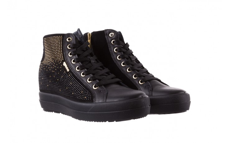 Sneakersy igi&co 8773800 nero, czarny, skóra naturalna 1