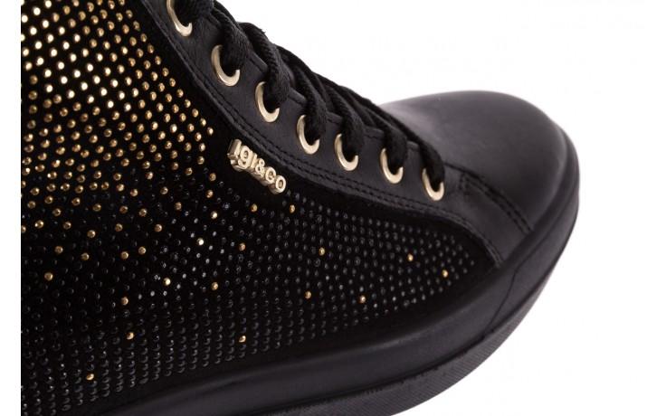 Sneakersy igi&co 8773800 nero, czarny, skóra naturalna 6