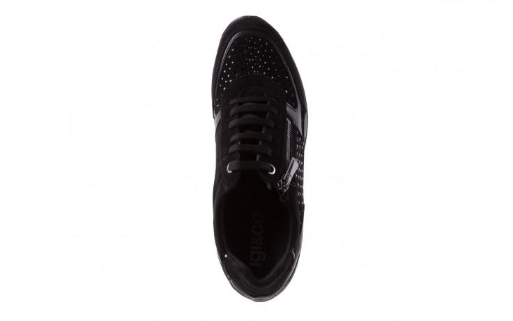 Sneakersy igi&co 8786400 nero, czarny, skóra naturalna 4