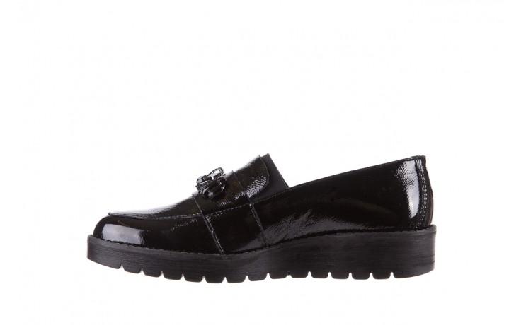 Mokasyny imac 205660 black, czarny, skóra naturalna lakierowana  - na koturnie - półbuty - buty damskie - kobieta 2