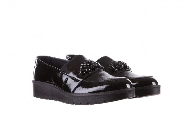 Mokasyny imac 205660 black, czarny, skóra naturalna lakierowana  - na koturnie - półbuty - buty damskie - kobieta 1