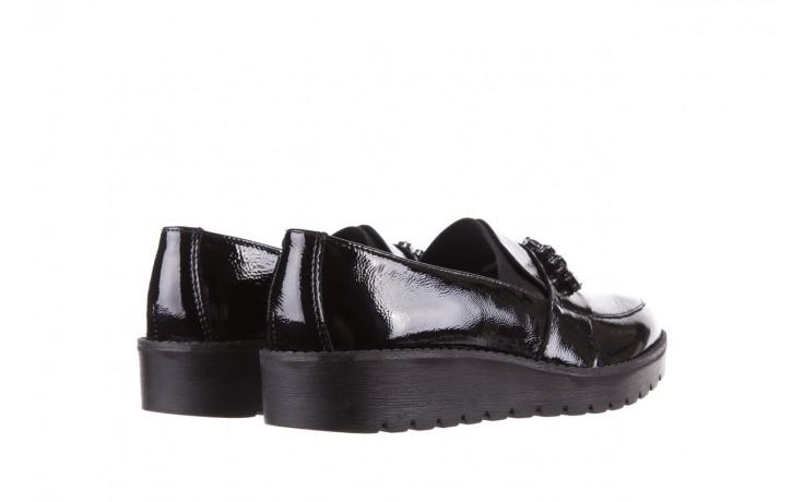 Mokasyny imac 205660 black, czarny, skóra naturalna lakierowana  - na koturnie - półbuty - buty damskie - kobieta 3