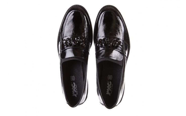 Mokasyny imac 205660 black, czarny, skóra naturalna lakierowana  - na koturnie - półbuty - buty damskie - kobieta 4