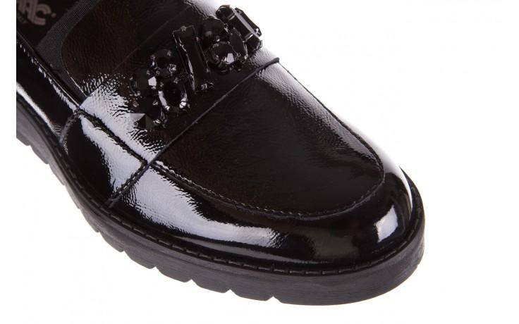 Mokasyny imac 205660 black, czarny, skóra naturalna lakierowana  - na koturnie - półbuty - buty damskie - kobieta 5