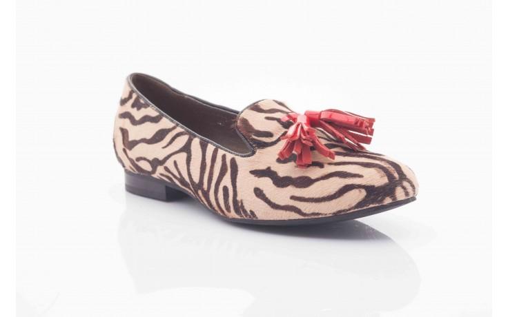 Lordsy bayla 1133-46 beige zebra red, beż/ brąz, futro naturalne - bayla - nasze marki