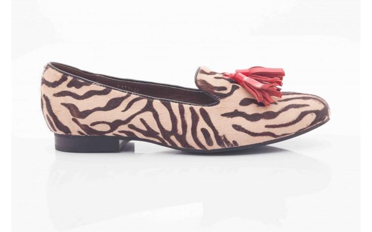 Lordsy bayla 1133-46 beige zebra red, beż/ brąz, futro naturalne - bayla - nasze marki 2