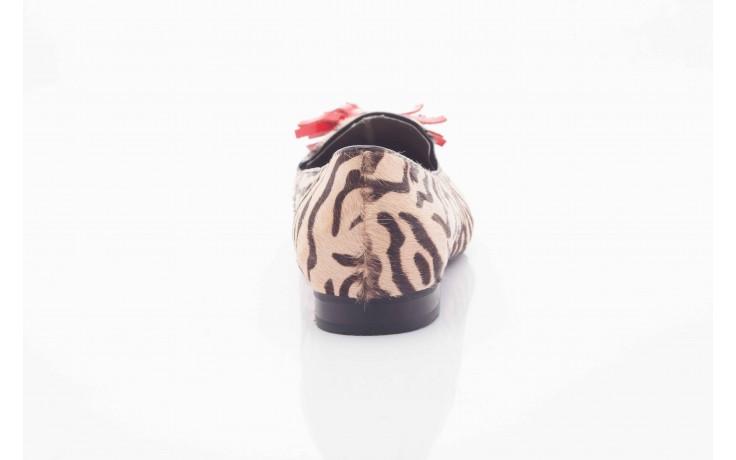 Lordsy bayla 1133-46 beige zebra red, beż/ brąz, futro naturalne - bayla - nasze marki 1
