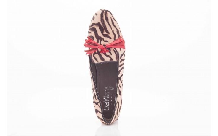 Lordsy bayla 1133-46 beige zebra red, beż/ brąz, futro naturalne - bayla - nasze marki 4