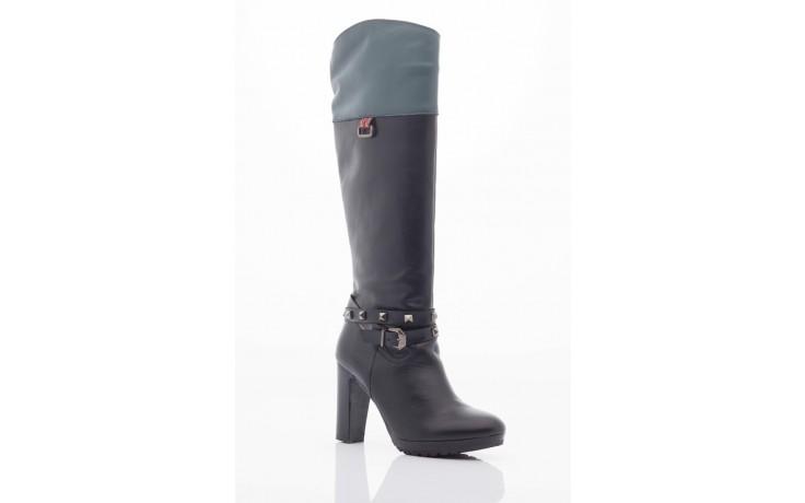 Kozaki pepe jeans pfs50351 999 black, czarny, skóra naturalna - pepe jeans  - nasze marki