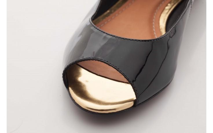 Baleriny bayla-cr 100020 vz spe black gold, czarny, skóra naturalna lakierowana - bayla - nasze marki 5