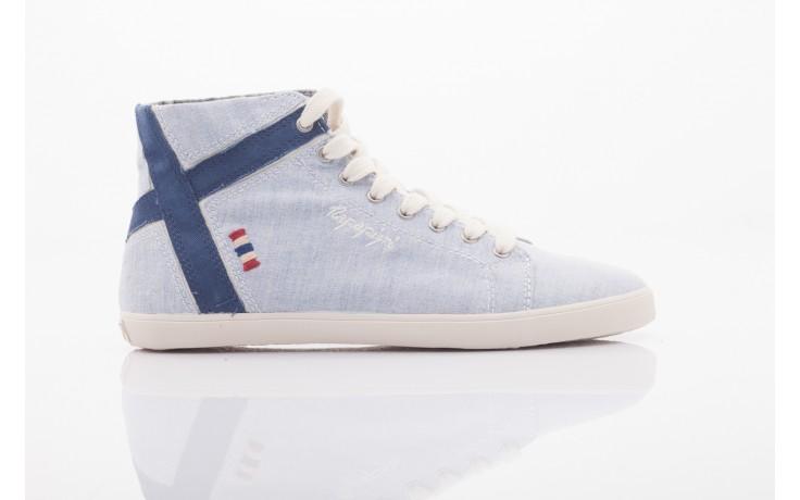 Trampki napapijri 0674010 lt. blue, niebieskie, materiał  - wysokie - trampki - buty damskie - kobieta