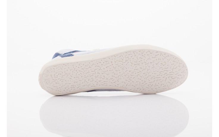 Trampki napapijri 0674010 lt. blue, niebieskie, materiał  - wysokie - trampki - buty damskie - kobieta 4