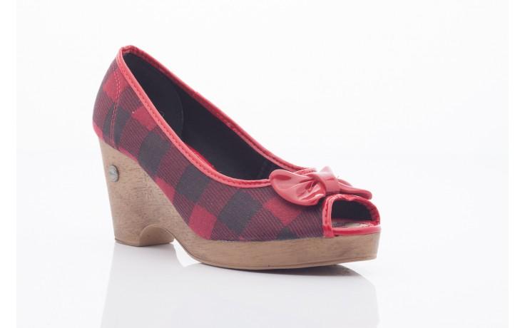 Czółenka dijean 715 716 red plaid, czerwony/ czarny, materiał  - dijean - nasze marki 1