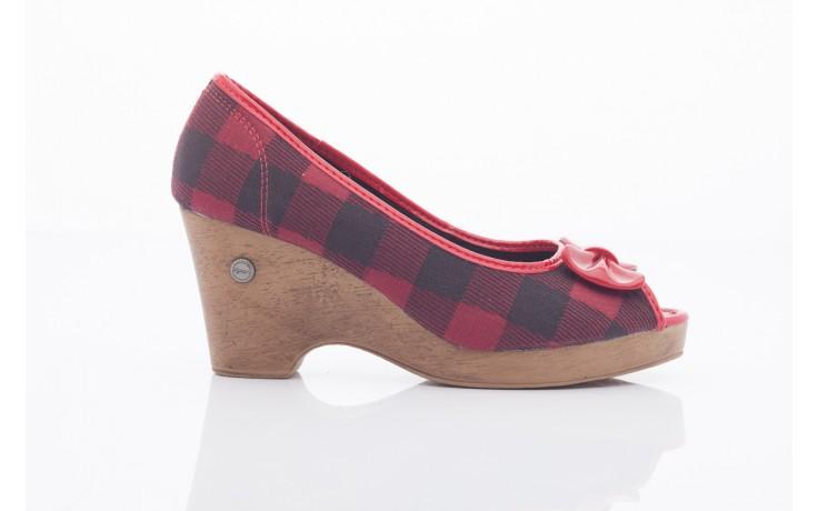 Czółenka dijean 715 716 red plaid, czerwony/ czarny, materiał  - dijean - nasze marki
