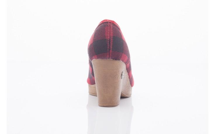 Czółenka dijean 715 716 red plaid, czerwony/ czarny, materiał  - dijean - nasze marki 3