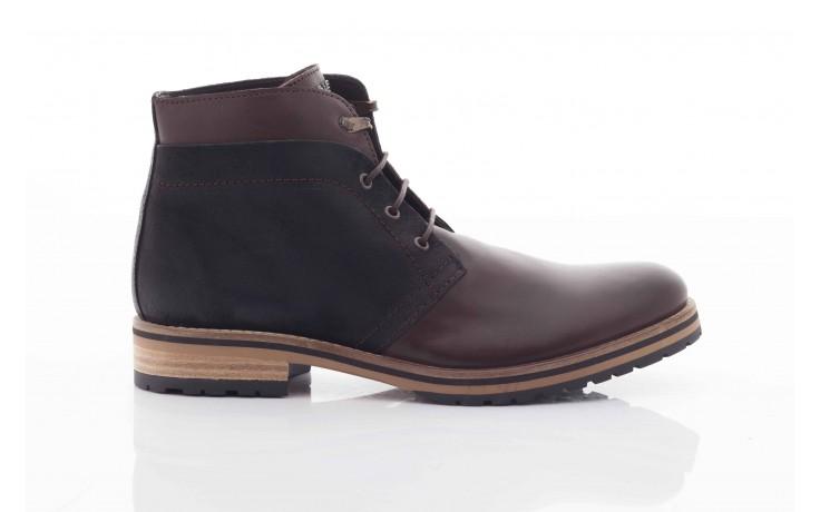 Trzewiki armani jeans u6593 brown-black, brąz/ czarny, skóra naturalna  - wizytowe - trzewiki - buty męskie - mężczyzna 2