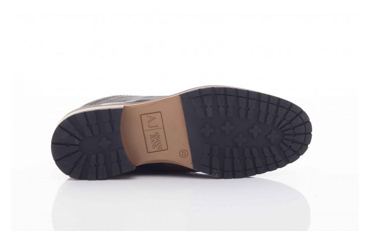 Trzewiki armani jeans u6593 brown-black, brąz/ czarny, skóra naturalna  - wizytowe - trzewiki - buty męskie - mężczyzna 3