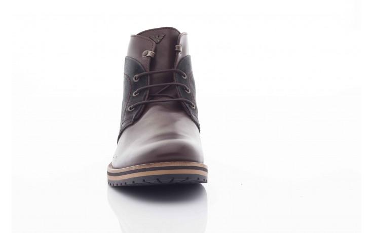 Trzewiki armani jeans u6593 brown-black, brąz/ czarny, skóra naturalna  - wizytowe - trzewiki - buty męskie - mężczyzna 1