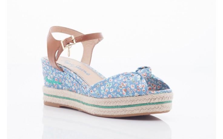 Sandały pepe jeans pfs90202 561 indigo, niebieskie, materiał  - na platformie - sandały - buty damskie - kobieta 4