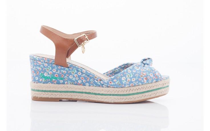 Sandały pepe jeans pfs90202 561 indigo, niebieskie, materiał  - na platformie - sandały - buty damskie - kobieta 1