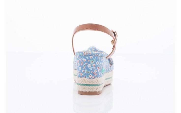 Sandały pepe jeans pfs90202 561 indigo, niebieskie, materiał  - na platformie - sandały - buty damskie - kobieta 3