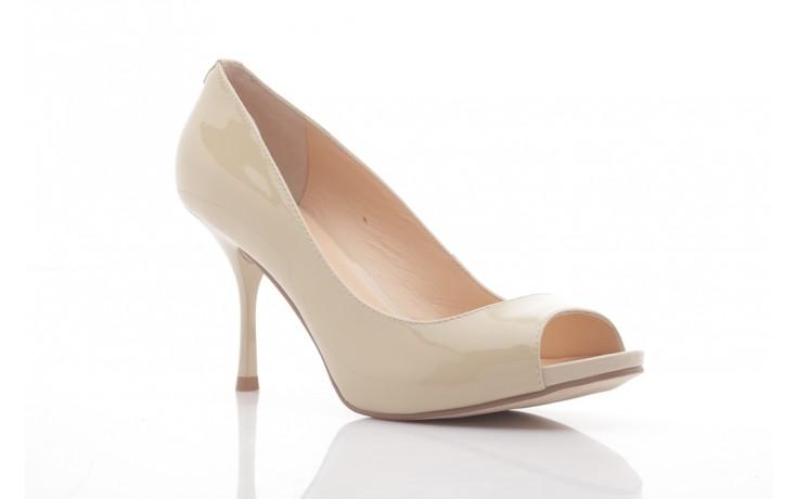 Szpilki guess fl1harpat07 sand, bez, skóra naturalna lakierowana - peep toe - szpilki - buty damskie - kobieta 1