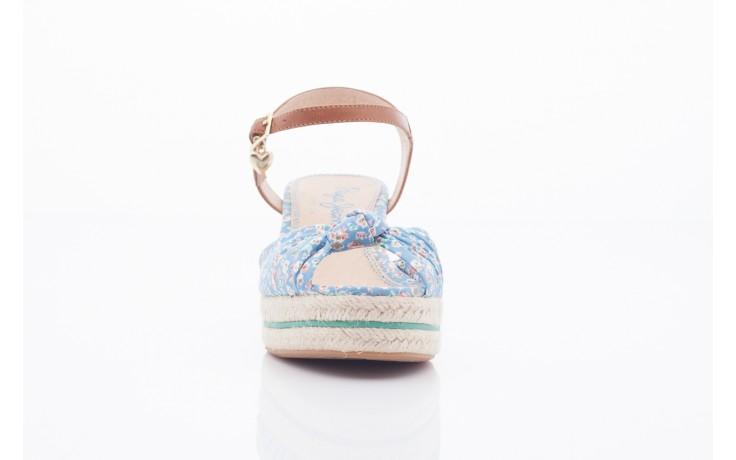 Sandały pepe jeans pfs90202 561 indigo, niebieskie, materiał  - na platformie - sandały - buty damskie - kobieta 2