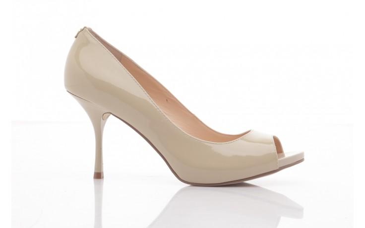 Szpilki guess fl1harpat07 sand, bez, skóra naturalna lakierowana - peep toe - szpilki - buty damskie - kobieta 5