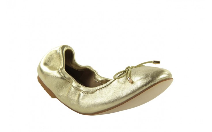 Baleriny bayla 1611-2 gold-beige, złoty/beż, skóra naturalna - bayla - nasze marki 1