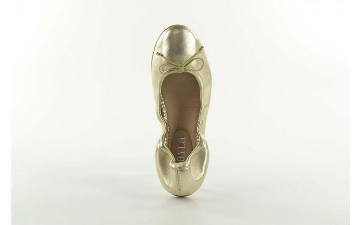 Baleriny bayla 1611-2 gold-beige, złoty/beż, skóra naturalna - bayla - nasze marki 3
