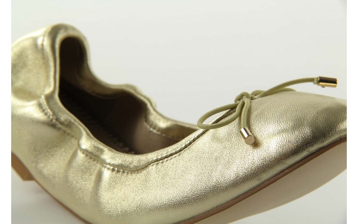 Baleriny bayla 1611-2 gold-beige, złoty/beż, skóra naturalna - bayla - nasze marki 4