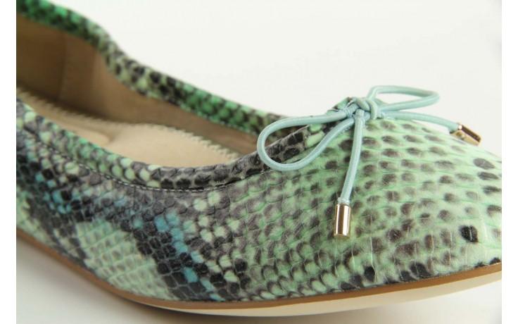 Baleriny bayla 1611-2 light green-black, zielony, skóra naturalna - bayla - nasze marki 4