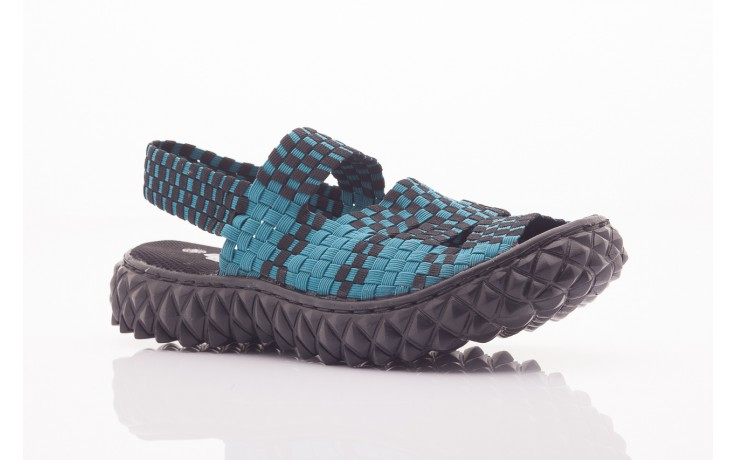 Sandały rock sandal 4 petrol-black, niebieskie/ czarny, materiał  - rock - nasze marki 4