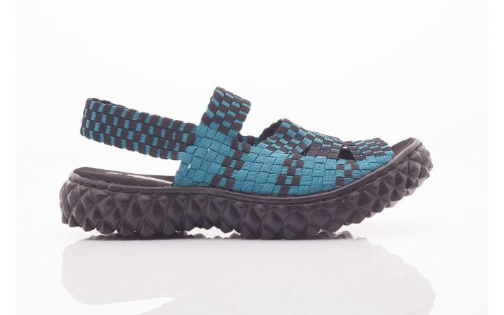 Sandały rock sandal 4 petrol-black, niebieskie/ czarny, materiał  - rock - nasze marki 5