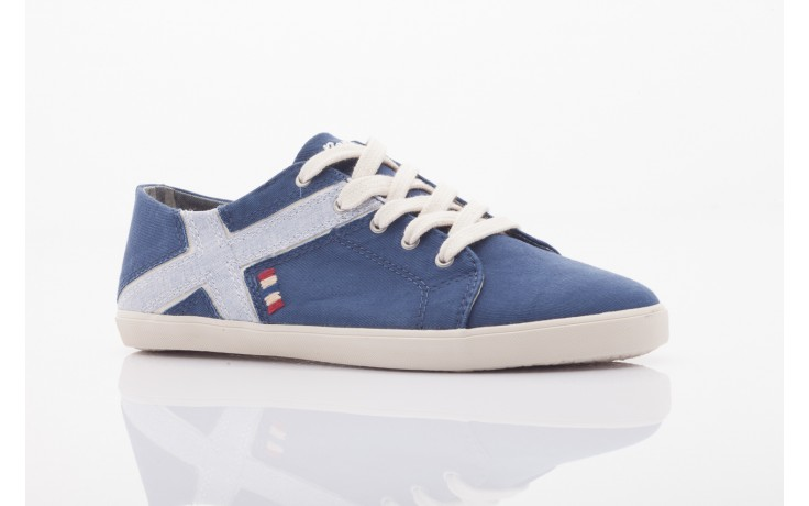 Trampki napapijri 0673030 dark blue, niebieski, materiał 4
