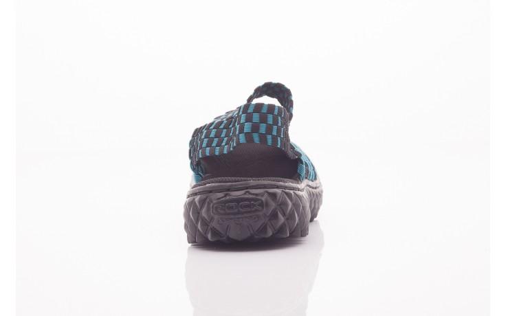 Sandały rock sandal 4 petrol-black, niebieskie/ czarny, materiał  - rock - nasze marki 2