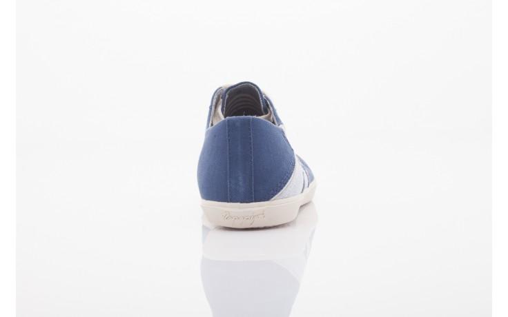 Trampki napapijri 0673030 dark blue, niebieski, materiał 3