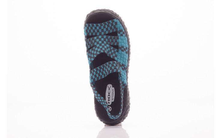 Sandały rock sandal 4 petrol-black, niebieskie/ czarny, materiał  - rock - nasze marki 1