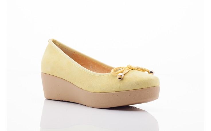 Baleriny bayla 1302-3 yellow kid suede pat, żółty, skóra naturalna - bayla - nasze marki 4