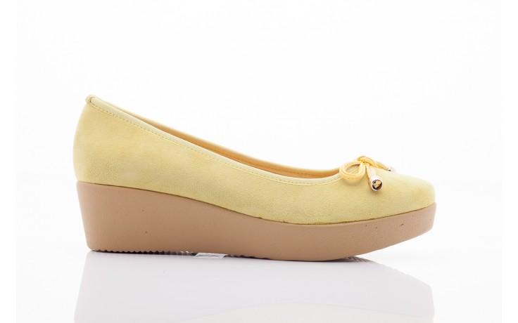 Baleriny bayla 1302-3 yellow kid suede pat, żółty, skóra naturalna - bayla - nasze marki 2