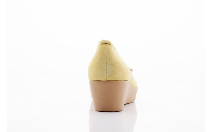 Baleriny bayla 1302-3 yellow kid suede pat, żółty, skóra naturalna - bayla - nasze marki 1