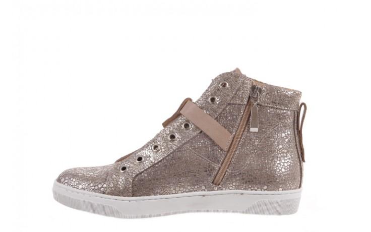 Trampki bayla-156 4079 diamonds grey buewax coco, złoto, skóra naturalna  - trampki - dla niej  - sale 2